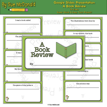 Quick & Easy Tech Project - A Book Review - Google Slides, Google Classroom