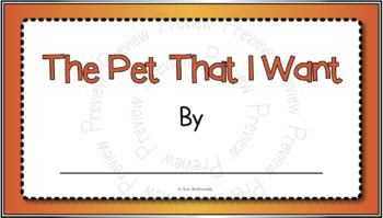 Quick & Easy Tech Project - The Pet That I Want-Google Slides, Google Classroom