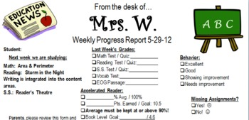 Quick & Easy Weekly Progress Report