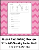 Quick Factoring Review with Factor Bank!