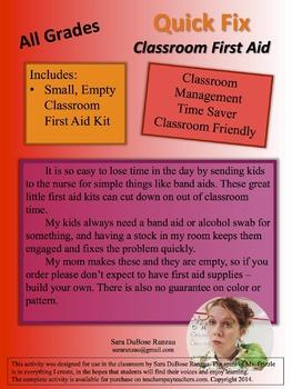 Quick Fix Classroom First Aid Kit