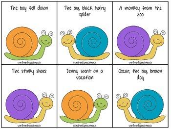 """""""Quick Fix"""" Complete vs. Incomplete Snail Sentences"""