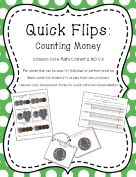 Quick Flips: Counting Money Practice Cards