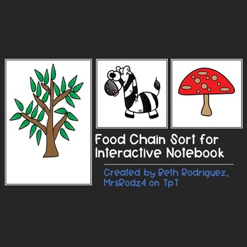Quick Food Chain Sort for Interactive Notebooks