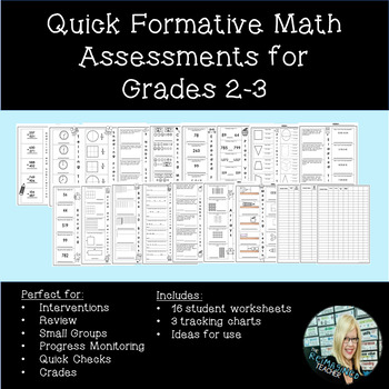 photograph about Basic Math Skills Assessment Printable called Straightforward Formative Math Opinions for Grades 2-3