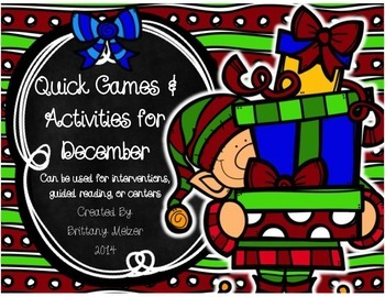 Quick Games and Activities for December