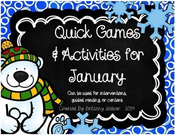 Quick Games and Activities for January