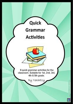 Quick Grammar Activities