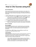 Quick Guide to APA Citations