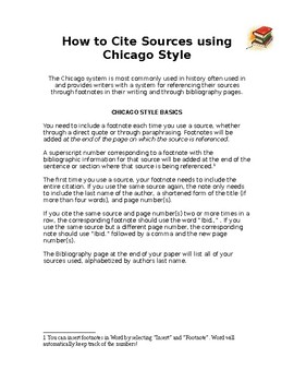Quick Guide to Chicago Style Citations