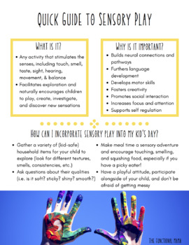 Quick Guide to Sensory Play
