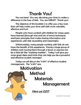 Quick Guide to Student Management, the 4M's of Classroom Management