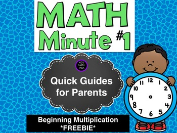 Quick Guides for Parents - Beginning Multiplication #1