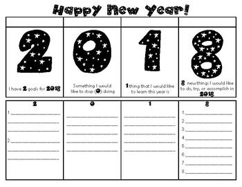 Quick Happy New Year Activity