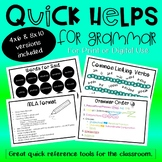 Quick Helps for Grammar