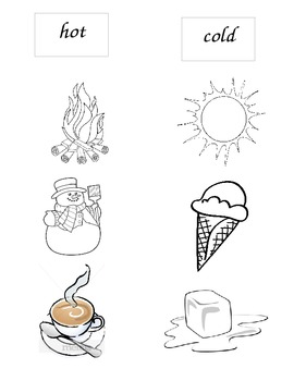 Quick Hot and Cold Picture Sort