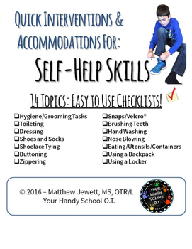 Quick Interventions and Accommodations for Student Difficulties: Self Help