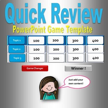 Quick Jeopardy  PowerPoint Game Template