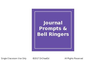 Quick Journal Prompts & Bell Ringers