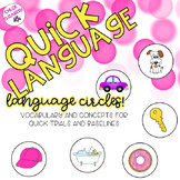 Quick Language! Language Cards for Quick Trials and Baselines!