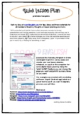 Quick Lesson Plan Template