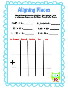 Quick Math - Aligning Places and Ungrouping Using Zeros