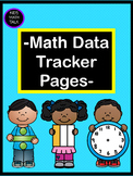 Quick Math Data Tracking Sheets