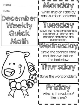 Quick Math - December