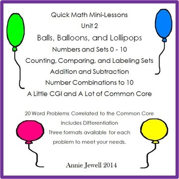 Quick Math Mini-Lessons Bundle- Unit 1 and Unit 2
