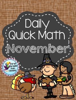 Thanksgiving Math November Quick Math