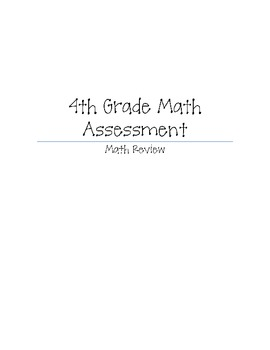 Quick Math Review 4th grade