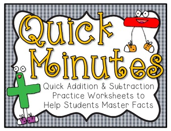 Quick Minutes Addition & Subtraction Practice