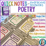 Quick Notes®: POETRY for Interactive Notebooks