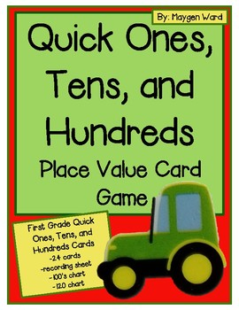 Quick Ones, Tens, and Hundreds Card Game