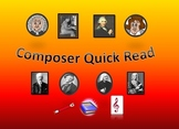 Quick Page Bio of Legendary Composers Elementary Read Grade 5
