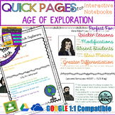 Quick Pages: Age of Exploration (Anchor Charts for Interactive Notebooks)