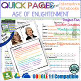 Quick Pages: Enlightenment Era (Anchor Charts for Interactive Notebooks)