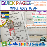 Quick Pages: Middle Ages Japan (Anchor Charts for Interact