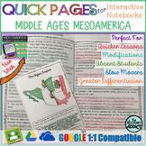 Quick Pages: Middle Ages Mesoamerica (Anchor Charts for Interactive Notebooks)