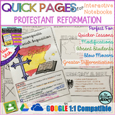 Quick Pages: Protestant Reformation (Anchor Charts for Interactive Notebooks)