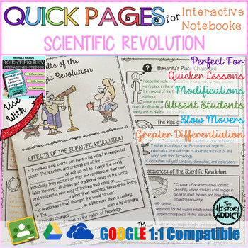 Quick Pages: Scientific Revolution (Anchor Charts for Interactive Notebooks)