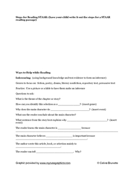 Quick Parent STAAR Reading Review for 3rd grade