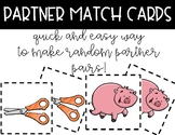 Quick Partner Match Cards {Cooperative Learning}