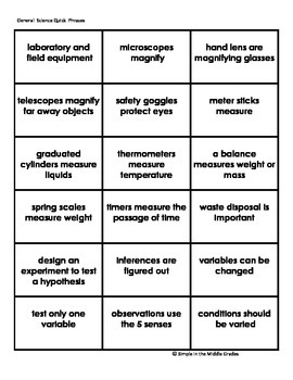 Quick Phrases for Science Fluency: General Science