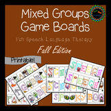 Mixed Groups Game Boards for Fall #nov2018slpmusthave