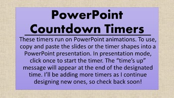 Quick PowerPoint Countdown Timers