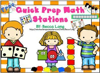 Quick Prep. Math Station - FREE!!