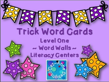 Quick Prep ~ Trick Words Cards ~ Word Wall (Level 1)