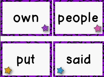 Quick Prep ~ Trick Words Cards ~ Word Wall (Level 2)