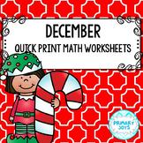 Math Worksheets for December